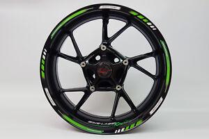 """LISERET AUTOCOLLANT 710001 GP-STYLE Racing 1000 Green Pour 16"""" 17"""" 18"""" Pouces  </span>"""