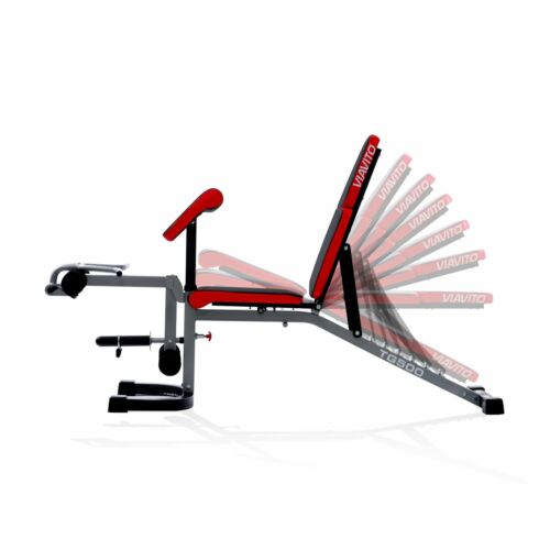 Viavito FID Utility Bench TG500 Multi Function Adjustable Dumbbell Weight Bench