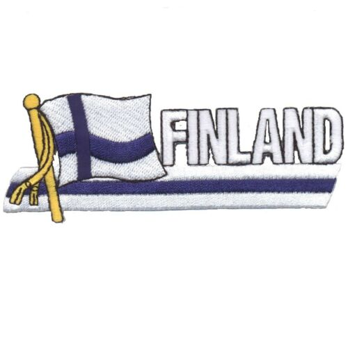 "Finland Patch Helsinki Iron on Nordic Espoo Baltic Sea Badge 4-7//8/"""