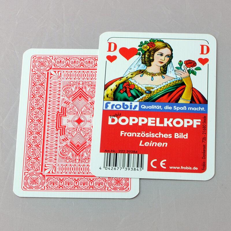 25 Doppelkopfspiele Leinen Französisches Bild, Doko Doppelkopfkarten von Frobis
