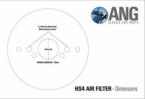 "1850HL S//STEEL HS4 1 1//2/"" SU PANCAKE AIR FILTERS+GASKETS TRIUMPH DOLOMITE 1850"