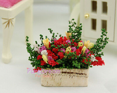 1/12 Dollhouse Miniature Plant Flower Colorful Bloosom Flower OP011