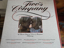 TWO'S COMPANY: VINYL LP: 1986: 16 CLASSIC DUETS OF LOVE & ROMANCE