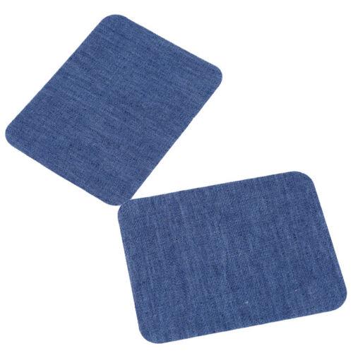 Iron-On Denim Patches Jeans Elbow Knee Repair Decorative Applique No Sew DIY one