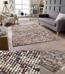 Natural Chunky Bobble Rugs 100 Wool