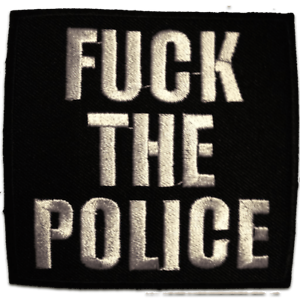7.5x7.5 Application badges F*ck the Police black Qoute Iron on patches