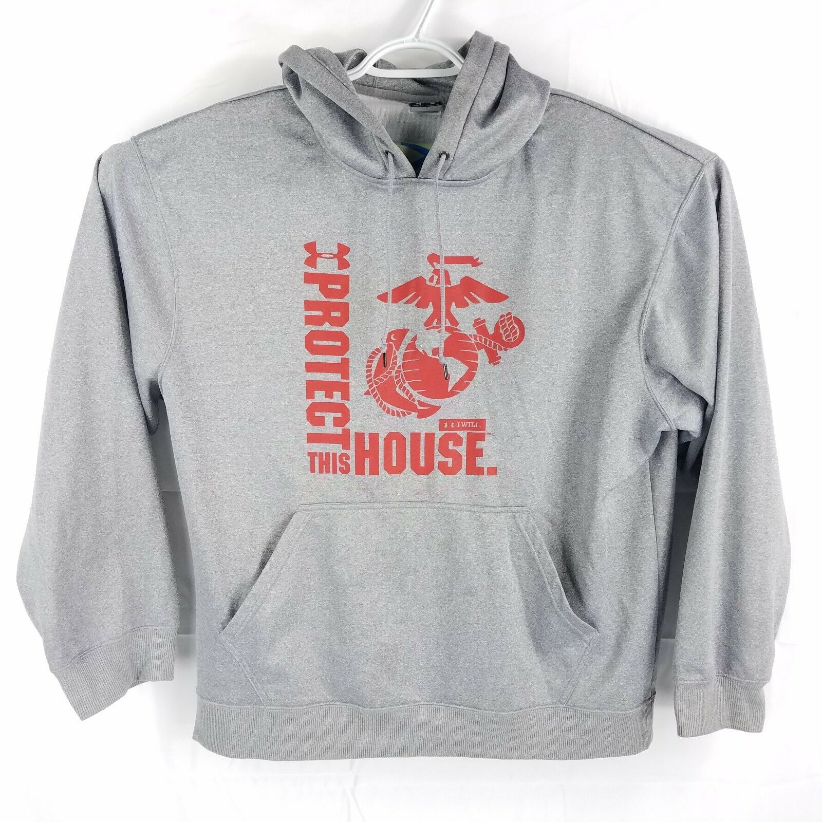 Under Armour 'Protect This House' grau Polyester Hoodie Sweatshirt,  Herren Large