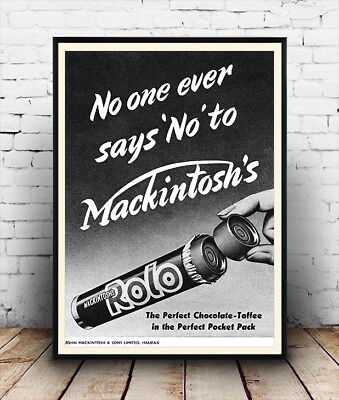 Vintage confectionary advertising poster reproduction Mackintosh Toffee