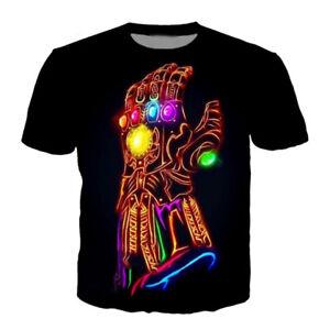 New Women Men Thanos Hand Print 3D T-Shirt Fashion Tops Tee Short Sleeve