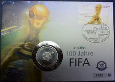 Deutschland Numisbrief 100 Jahre FIFA Fussball 2004 Münze 10 EUR SILBER