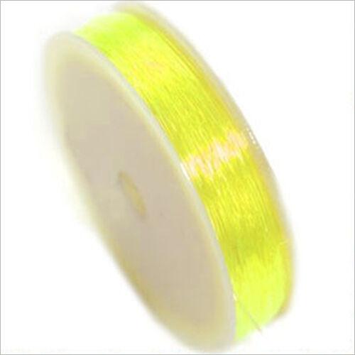 10m Jaune pour création de bijoux Fil Cordon Elastique de Nylon 0,8mm