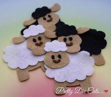 Felt Sheep (pack of 2) Die Cut Craft Embellishments