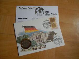 1 X Münz-briefe Aus Aller Welt Deutschland 2 SchöNer Auftritt