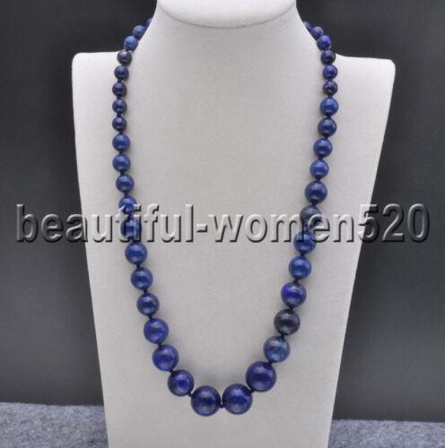 Z8186 16 mm Naturel Bleu Lapis Lazuli Round Bead Tour Collier 20 in environ 50.80 cm
