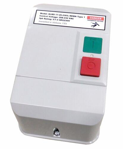 Elimia ALMS 17-25-230 7.5 HP 208-230V Magnetic Motor Starter Nema 1 UL Listed