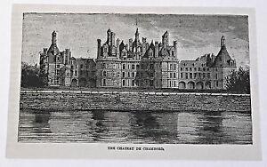 1883-Revista-Grabado-Chateau-de-Chambord-France