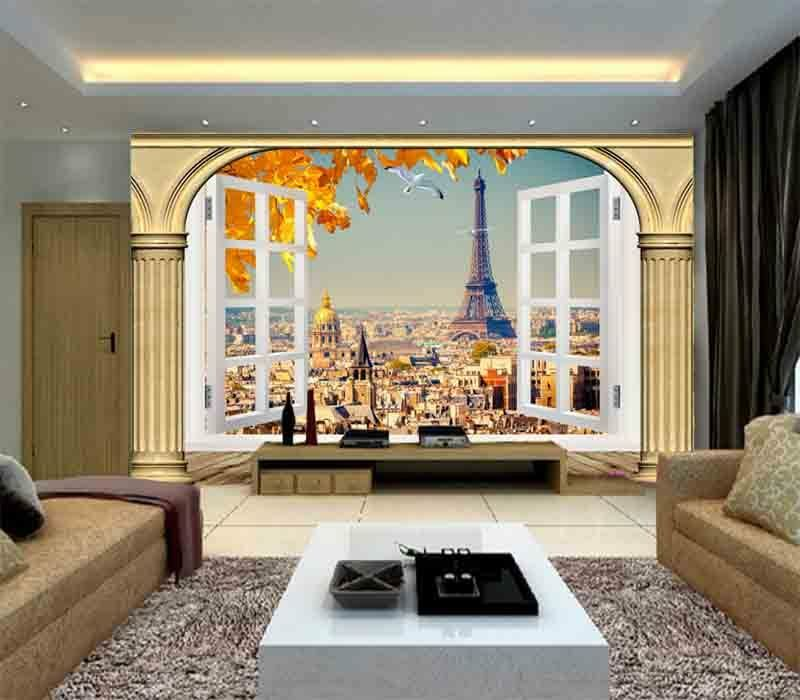 Vacant Eiffel Tower 3D Full Wall Mural Photo Wallpaper Printing Home Kids Decor