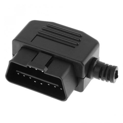 OBD-II L Type 16 Pin Male Connector Wire Sockets Connector Plug with Shell/&Screw