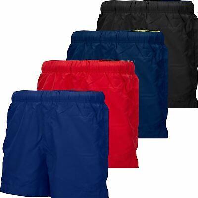 Mens Swim Shorts Trunks Swimwear Beach Swimming Holiday Zip Pocket Coloured Hem