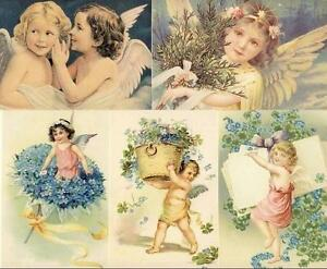 LOT-of-50-ANGELS-amp-CUPID-POSTCARDS-UNUSED-NEW