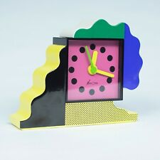 Nathalie Du Pasquier + George Sowden Neos table clock Memphis Milano Sottsass