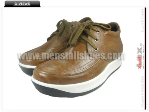 "SC7053 Height Hidden Lifted Taller Shoes For Men 2.8/"" Adding Height"