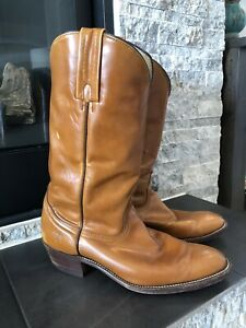 FRYE-Cowboy-Boots-Men-s-10-5-D-Tall-Brown-Leather-Western-USA-made