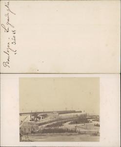 France-Boulogne-sur-mer-la-grande-jetee-Vintage-CDV-albumen-carte-de-visite