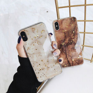 Bling-Cover-fr-iPhone-Xs-Max-XR-X-8-7-6-Glitter-Gold-Foil-Epoxy-Marble-Back-Case