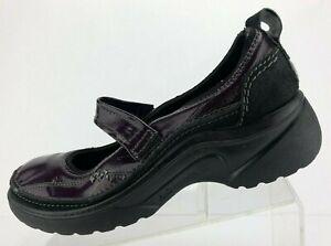 Romika-Mary-Jane-Black-Purple-Patent-Leather-Comfort-Walking-Womens-40-US-9-9-5