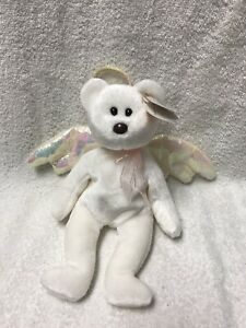 755e9123875 TY Beanie Baby - HALO the Angel Bear (8.5 inch) - MWMTs Stuffed ...
