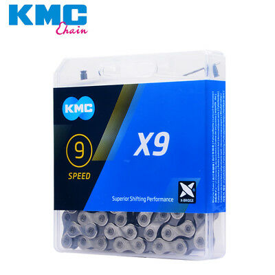 """Cycling Chains Intelligent Kmc X9 Mtb Mountain Road Bike Chain 1/2"""" X 11/128"""" 116l 9 Speed Bicycle Chain Firm In Structure"""