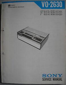 SONY-VO-2630-U-matic-Service-Manual