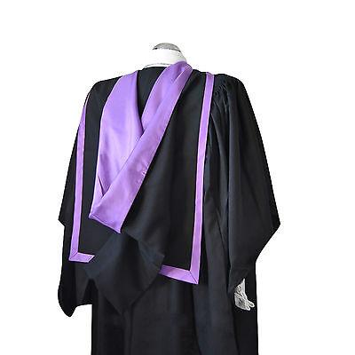 Preciso Laurea Completa Forma Hood Royal Purple University Scapoli Masters Accademico-mostra Il Titolo Originale