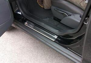 LTGJJ Car Sill Protector Accessories Car Stickers 4pcs Car Door Sill Protector Strips For Volvo XC60 XC40 XC90 Carbon Fiber Sill Guard Sticker Black Anti Scratch Car Door Sill Decoration Scuff Plate