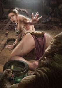 Mandalorian Princess Leia Star Wars Boba Fett 8.5x11 matted