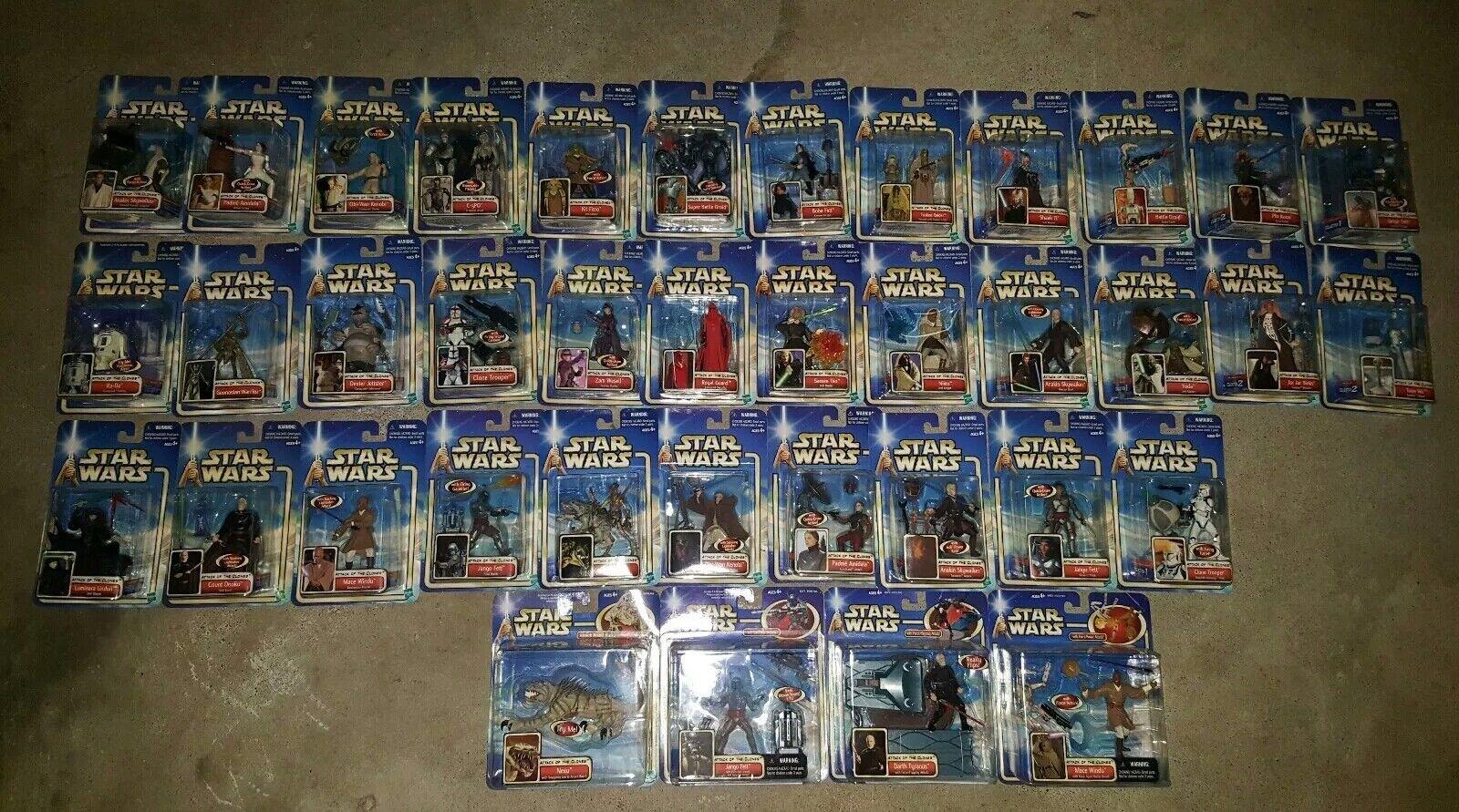 89 lot of estrella guerras Hasbro  cifras (AOTC) (POTJ) (Episode I) (Miscellaneous)  autentico