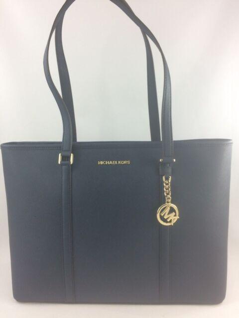 5f286eccc120 Michael Kors Leather Sady Large Multifunction Top Zip Tote Bag Ash Grey