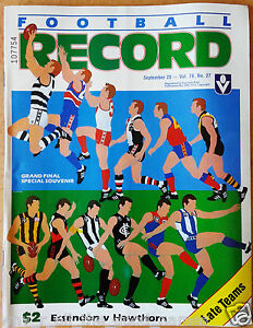 VFL-Football-Record-1985-GRAND-FINAL-Premiers-ESSENDON-BOMBERS-Match-Day-Edition