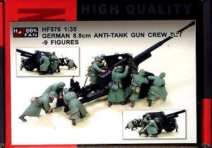 Hobby-Fan-1-35-HF-576-WWII-German-8-8cm-Anti-Tank-Gun-Crew-Set-9-Figures
