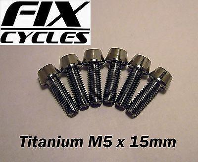 Titanio Ti M5 x 15 mm Taper Testa Bullone Vite con Allen Chiave Testa Luce