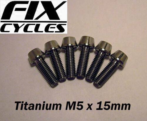 Luz Titanio M5 X 15mm Cirio Cabeza Tornillo con Allen Llave Cabeza