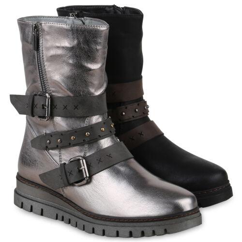Gefütterte Heels Stiefel Schuhe High Plateau 825156 Boots Damen 86HwqUH