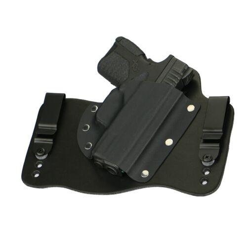 FoxX Leather /& Kydex IWB Hybrid Holster Springfield XD-S 4.0 9//45 Black Right