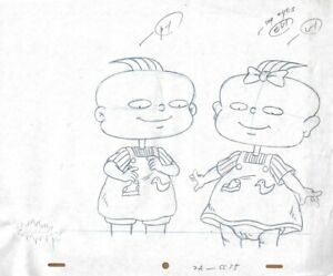 RUGRATS-Original-Production-Cel-Cell-Drawing-Nicktoon-COA-Animation-90s-Phil-Lil