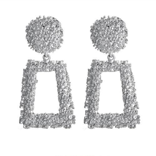 Punk coloré Ear Stud Vintage Femmes Filles Lady Creux De Forme Trapézoïdale Dangle Earrings