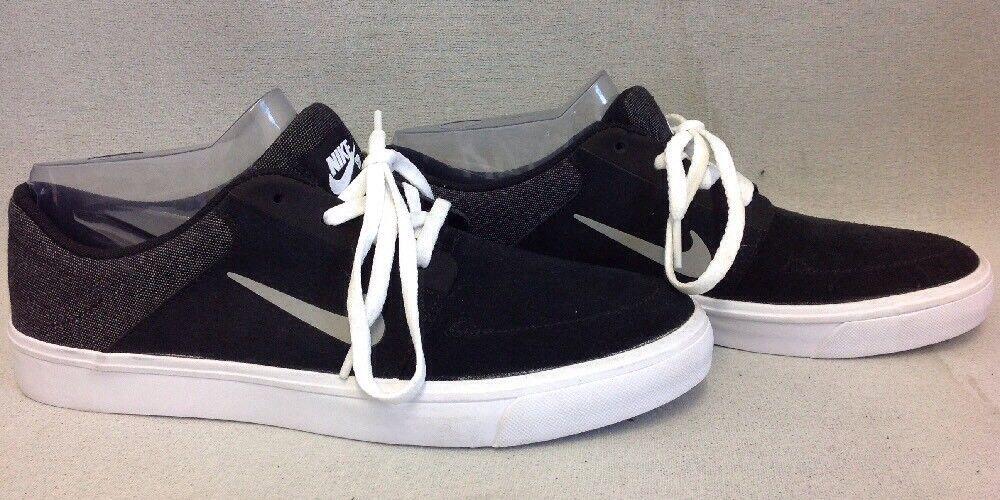 Männer nike schwarze sb portmore skate - schuhe, schwarze nike und weiße bequem 505a38