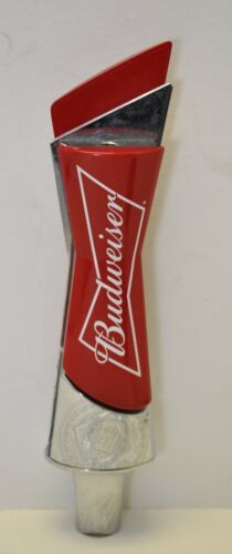 "Budweiser Bowtie Short 8.5/""  Signature Logo Keg Bar Red /& Chrome Tap Handle"