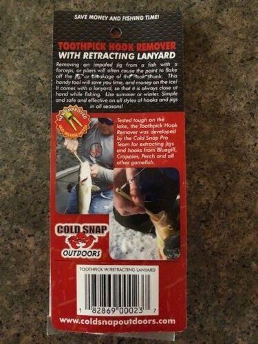 """2-Cold Snap-cure-dents T2 Crochet Remover avec rétraction Lanyard cstpl 51//4/"""""""