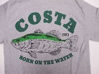 New Authentic Costa Del Mar, Big Bass, Gray S/S T-Shirt Size 2XL